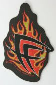 Fear Factory - 'Flames Logo' Shaped Patch